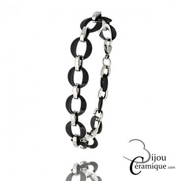 Bracelet maille céramique Femme