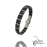 Bracelet céramique acier Homme