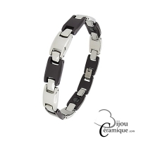 Bracelet Acier Céramique Marron