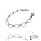 Bracelet cœur en céramique blanche