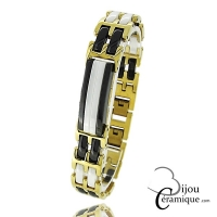 Bracelet céramique Homme bicolore