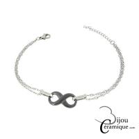 Bracelet infini céramique