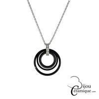 Collier rond en céramique noire