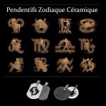Pendentifs Zodiaque céramique Homme