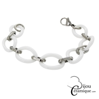 Bracelet en céramique et acier pour femme