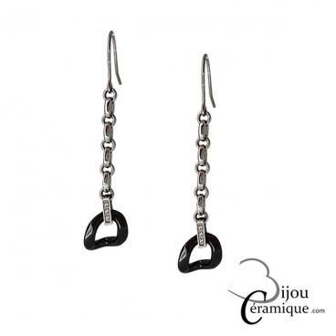 boucles d'oreilles pendantes céramique