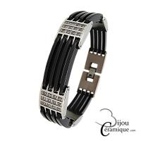 Bracelet bijoux en céramique noire