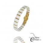 Bracelet acier doré et céramique Femme