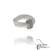Bague 3 anneaux céramique entrelacés