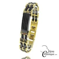 Bracelet céramique blanche Homme