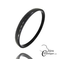 Bracelet Jonc céramique noire